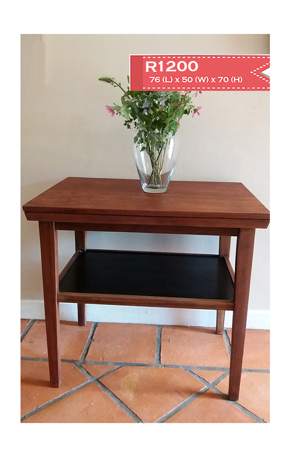 Solid mahogany side table