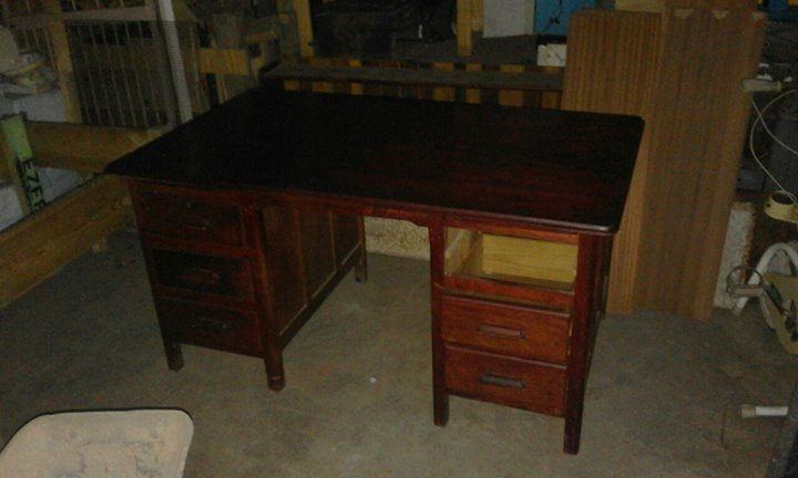 Wooden Study Table With 6 Drawers