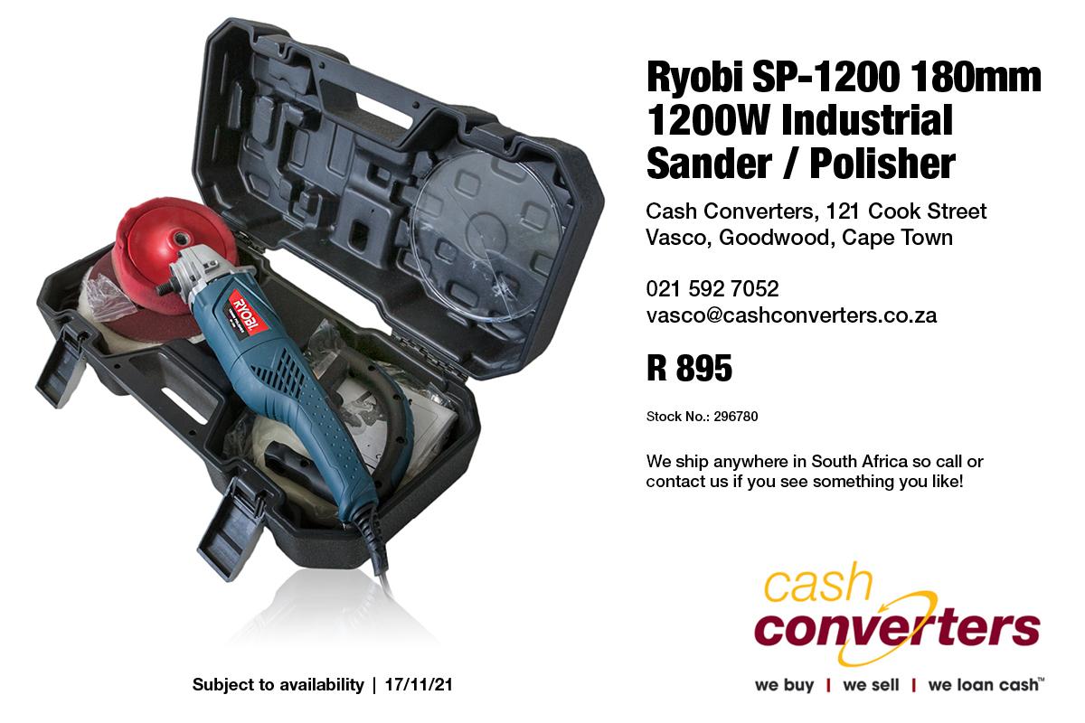 Ryobi SP-1200 180mm 1200W Industrial Sander / Polisher