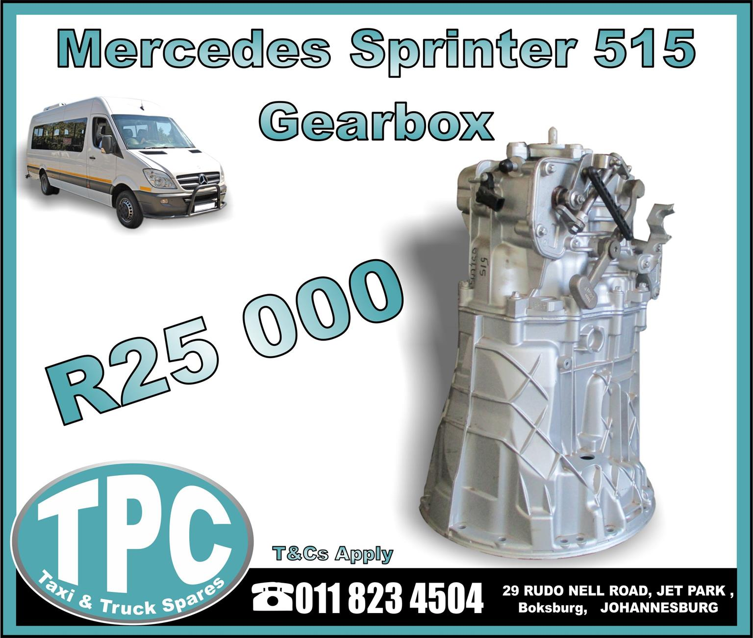 Mercedes Sprinter 515 Gearbox - Used - New And Used Quality Replacement Taxi Spare Parts -TPC.