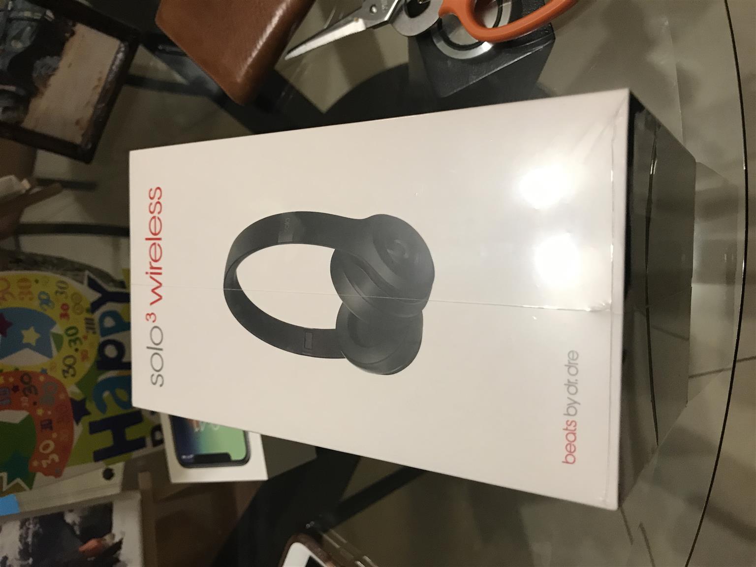 Unopened Beats Solo 3 Earphones for sale