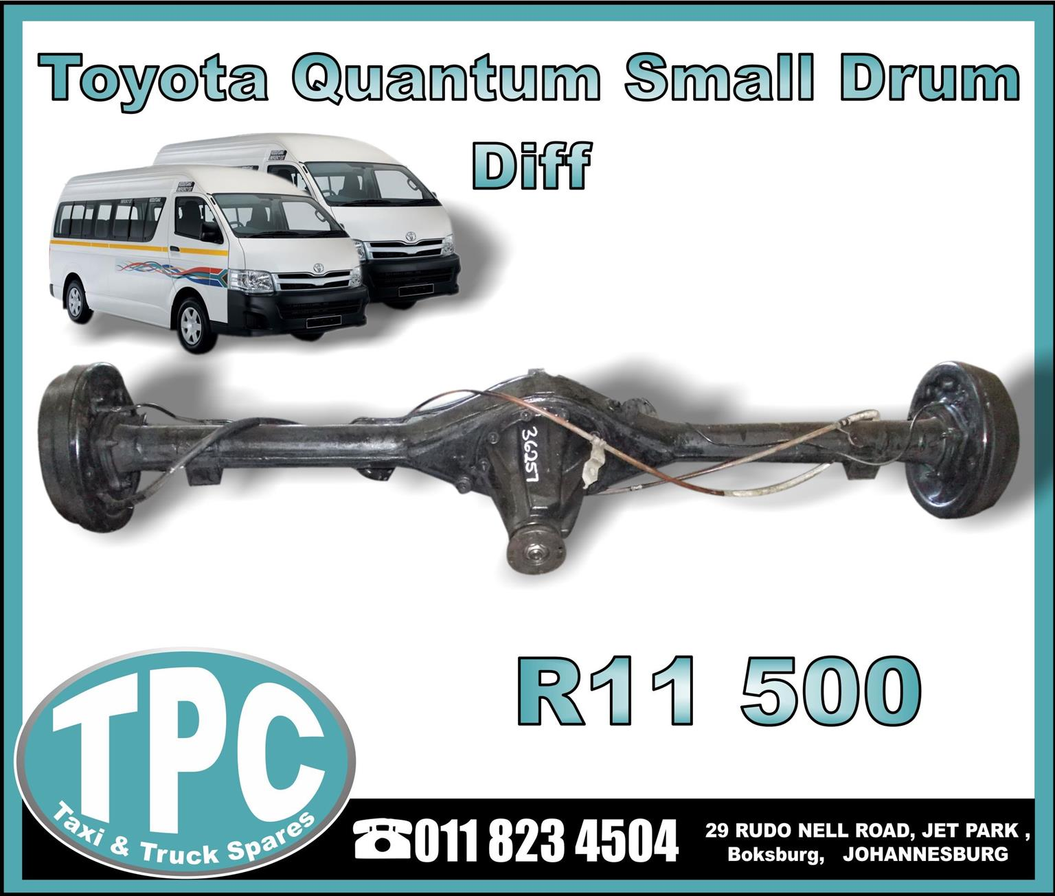 Toyota Quantum Small Drum Diff - New And Used Replacement Parts