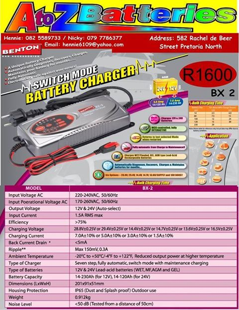 Benton Battery Charger  BX 2 for Sale