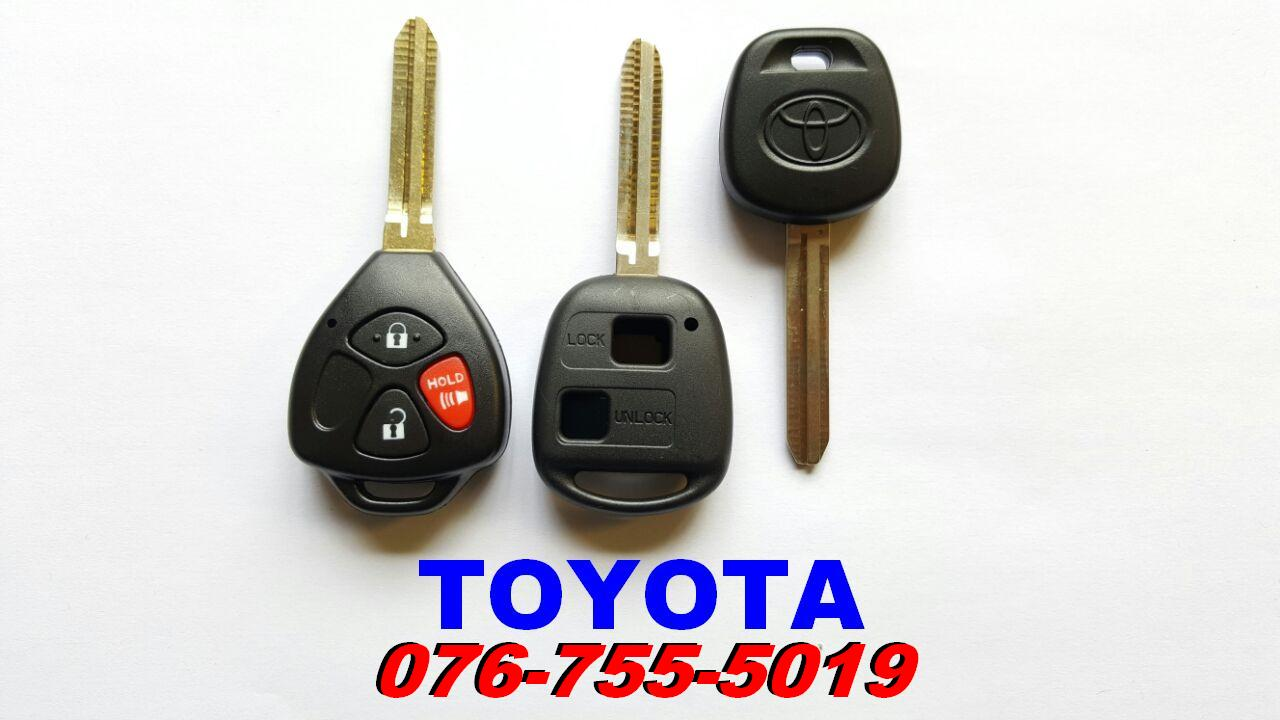 Toyota hilux fortuner spare key