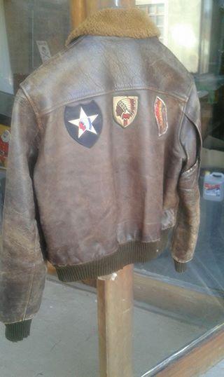 Pre world war 2 genuine leather motorbike jacket