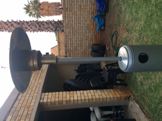 Alva patio gas heater