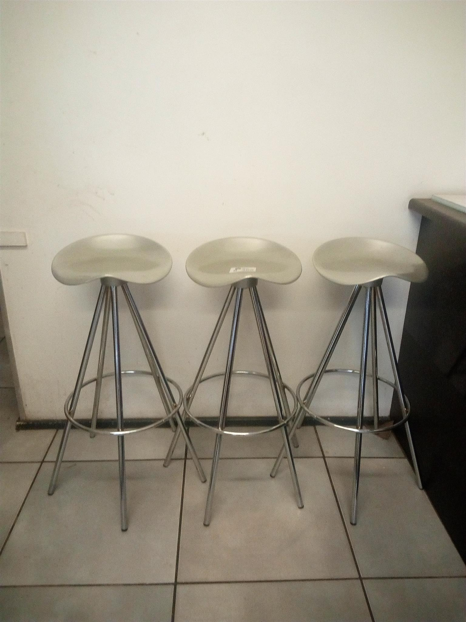 Solid Metal Bar Chairs  3 off