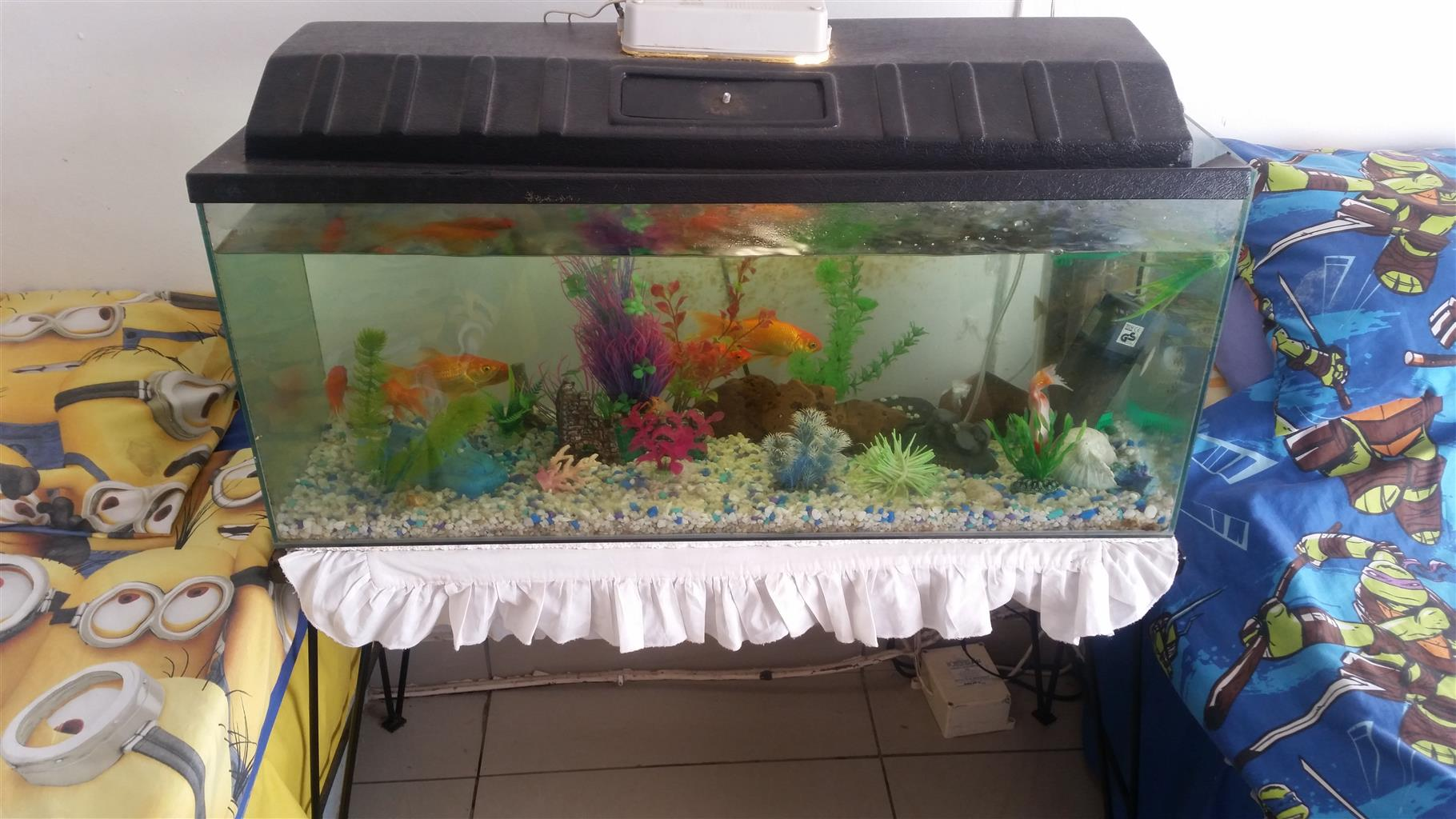 3 foot fish tank on stand