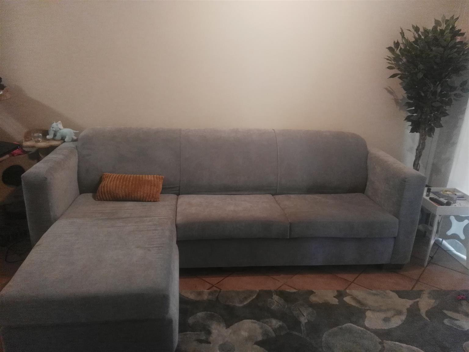 Grey L-shape Adora Couch for sale