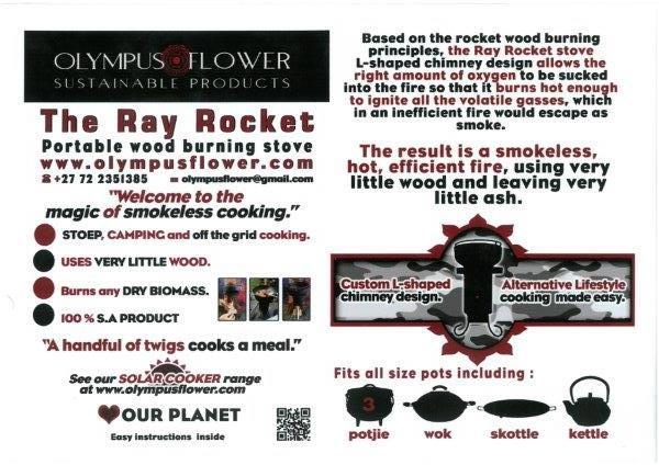 Ray Eshelby's Rocket Stoves + Solar Dishes + Orders of other work welcome