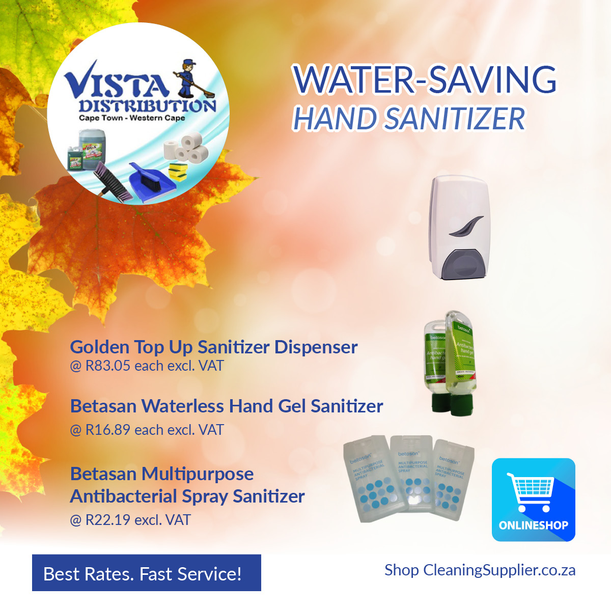 WATER-SAVING PRODUCTS! Water-less Hand Santizers, sanitizer dispensers and more!