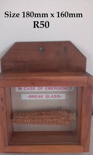 In case of emergency wall decor