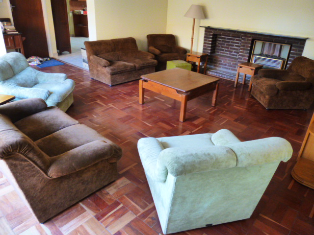 Gomma Gomma lounge suite, brown and green. 7 pieces.
