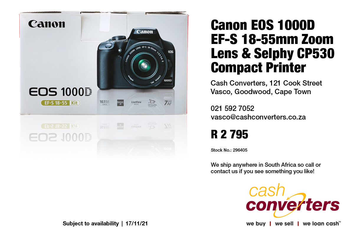 Canon EOS 1000D EF-S 18-55mm Zoom Lens & Selphy CP530 Compact Printer