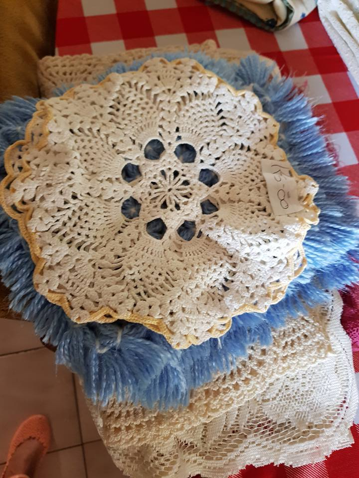 Various small table cloths