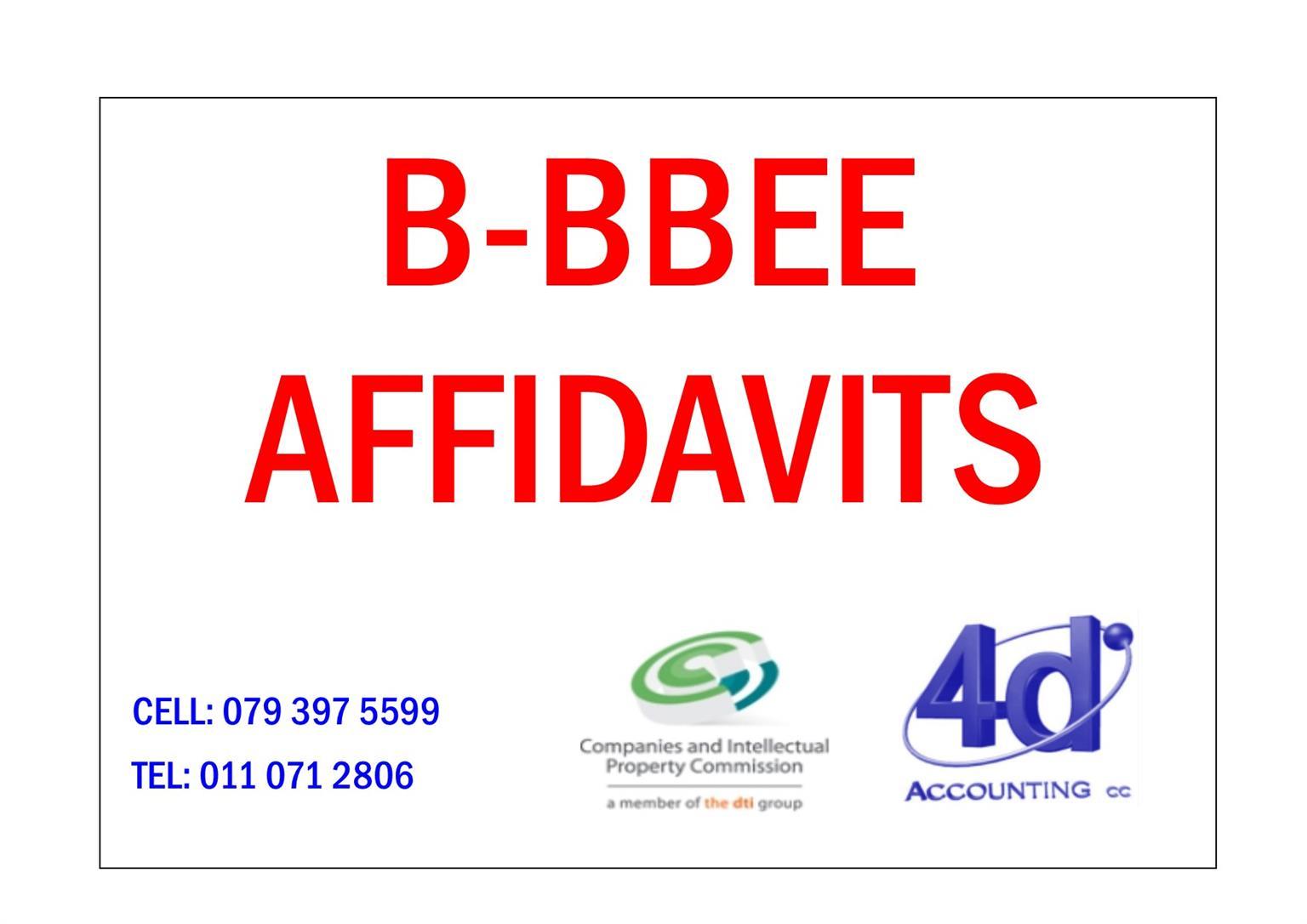 B-BBEE Certificates / Affidavits for EME