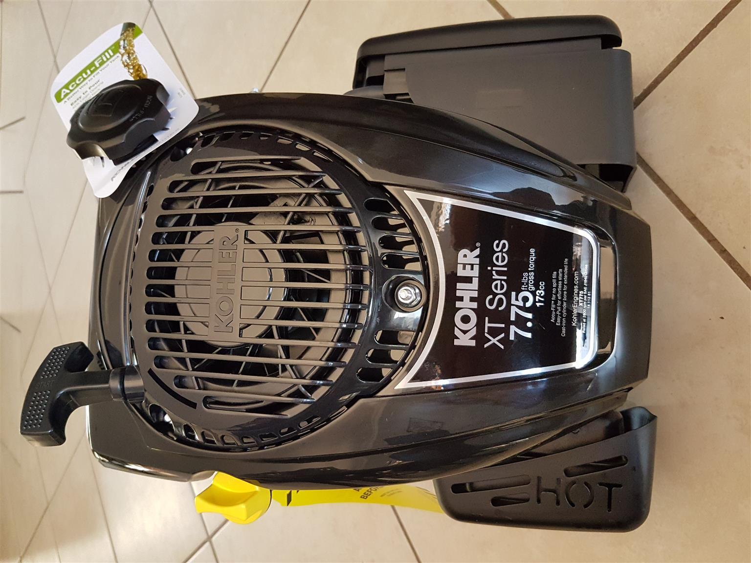 Kohler lawnmower engine. 173 cc 4 stroke