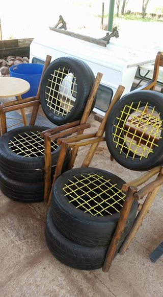Tyre chairs for sale