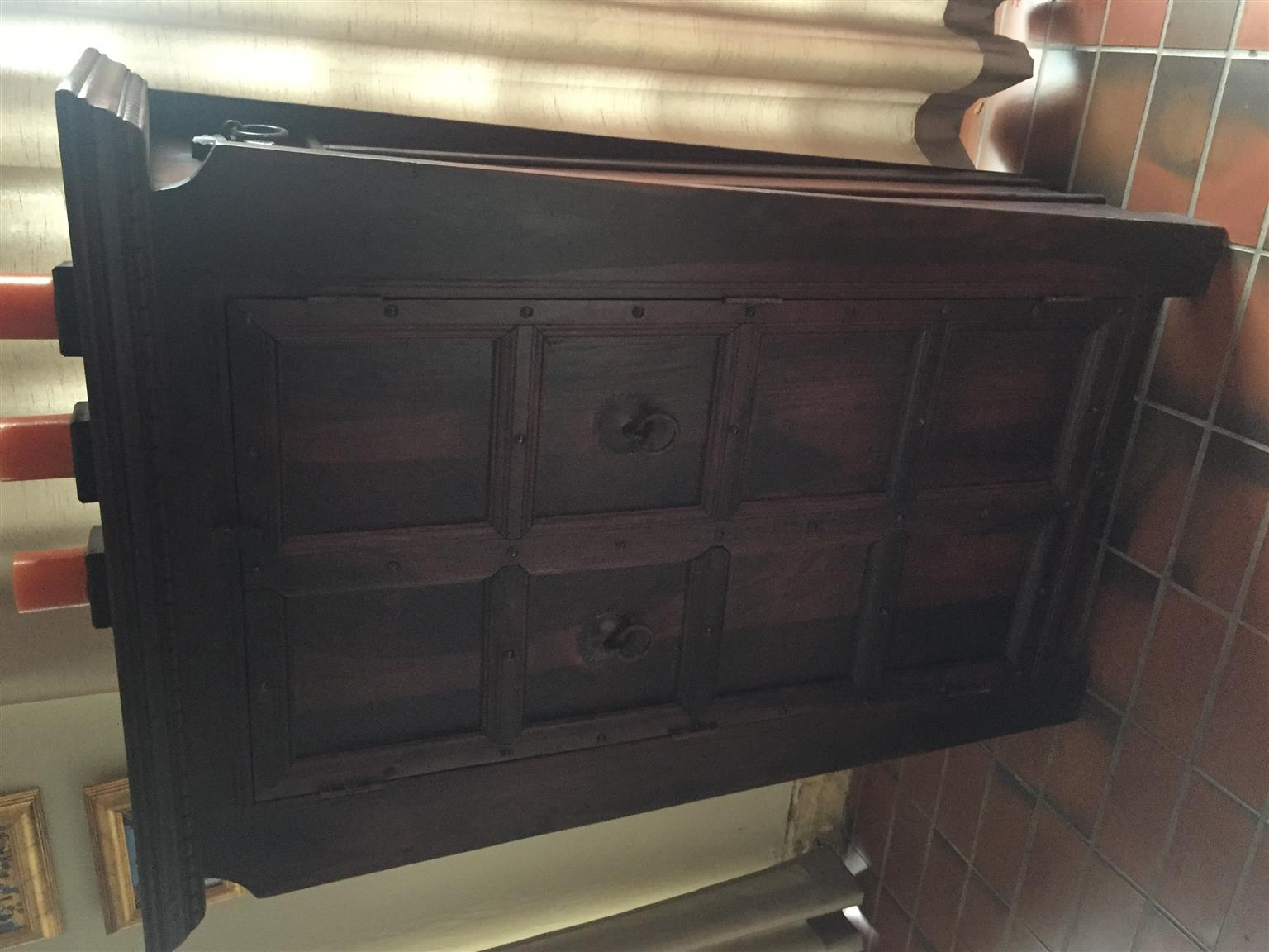 INDONESIAN HAND CRAFTED SOLID WOOD CUPBOARD / BOOKCASE