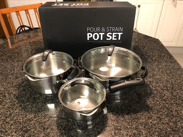 Good as new high quality @Home Stainless Steel Pot Set for Sale