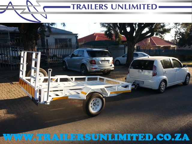 TRAILES UNLIMITED. CUSTOM CAR TRAILERS.