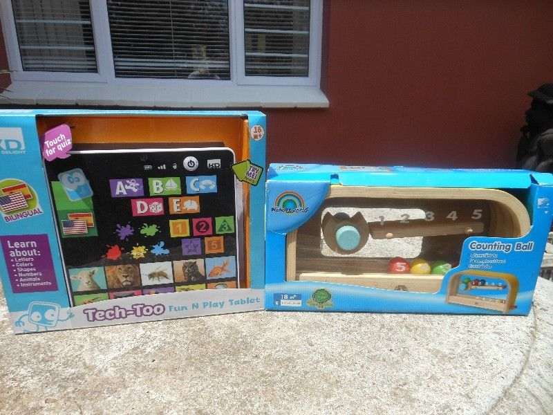TOYS FOR 12MTHS + & 18MTHS +. PERFECT FOR GIFTS
