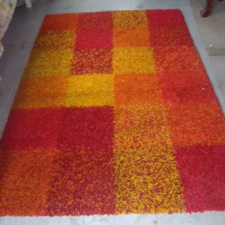 Red, orange carpet