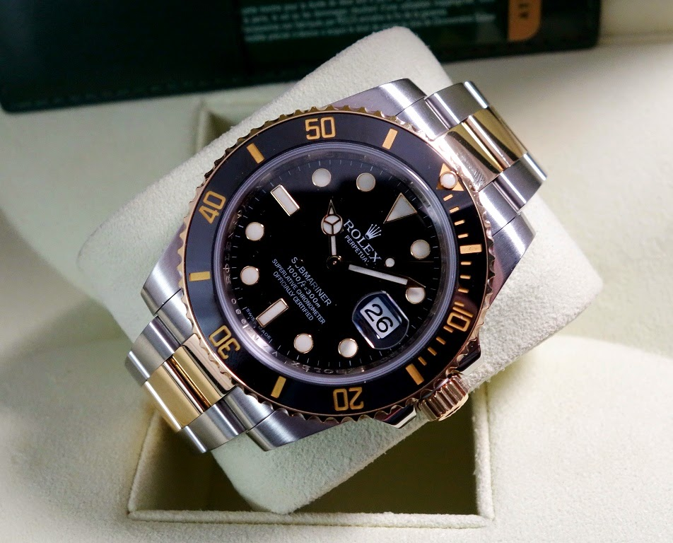 2010 ROLEX SUBMARINER CERAMIC 2 TONE REF 116613LN