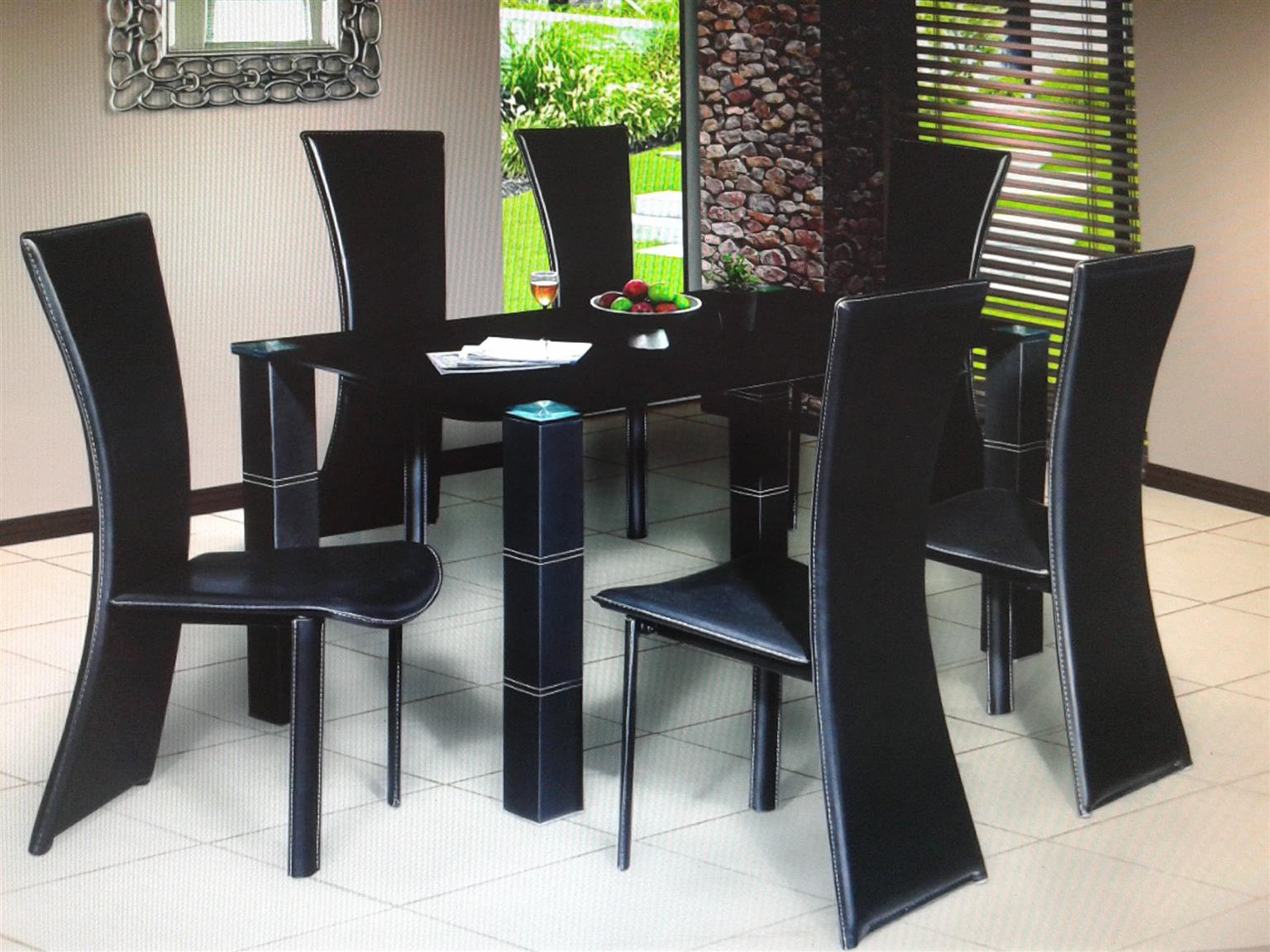Dining Room suite with 6 chair.