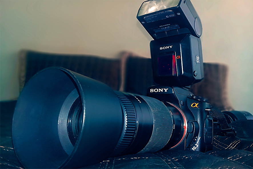 SONY A200 DSLR CAMERA WITH NEW SELPHY CP1000 PRINTER