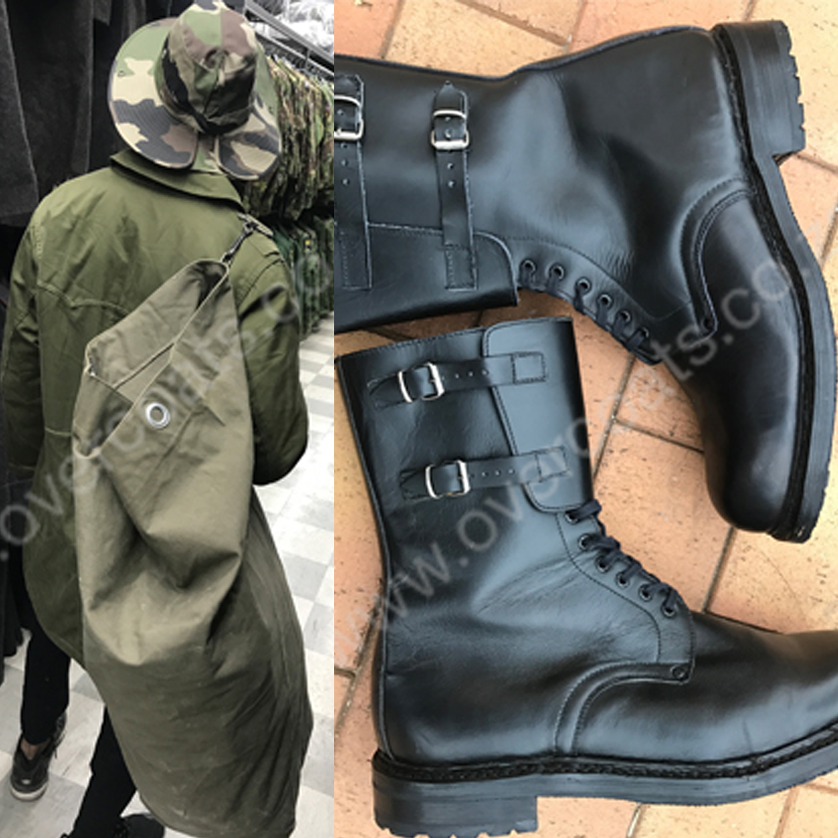 Second hand Military coats, parkas and accessories.