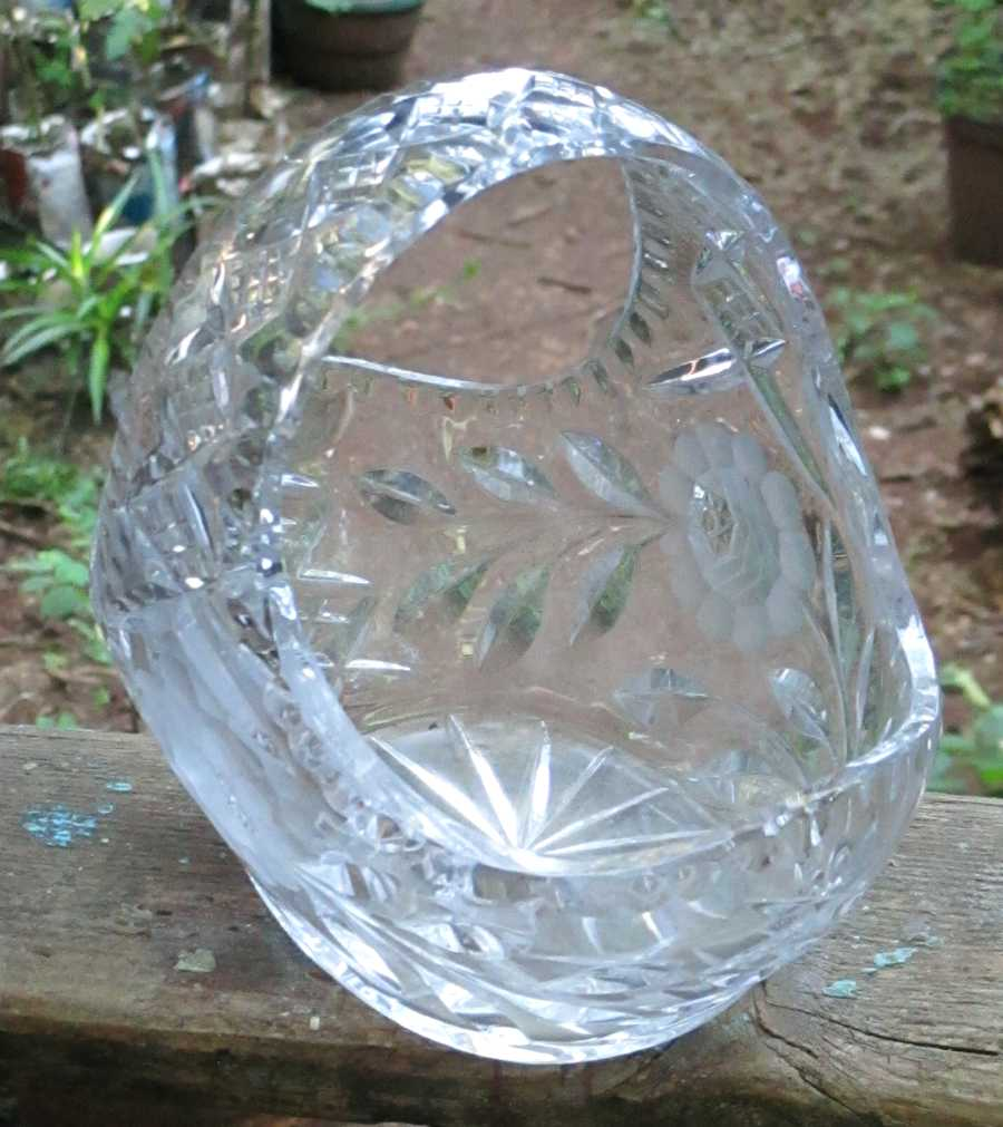 Cut glass fruit bowls - circa 1950's - still ' as new '