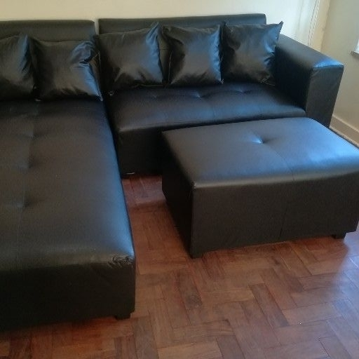 new black corner couch