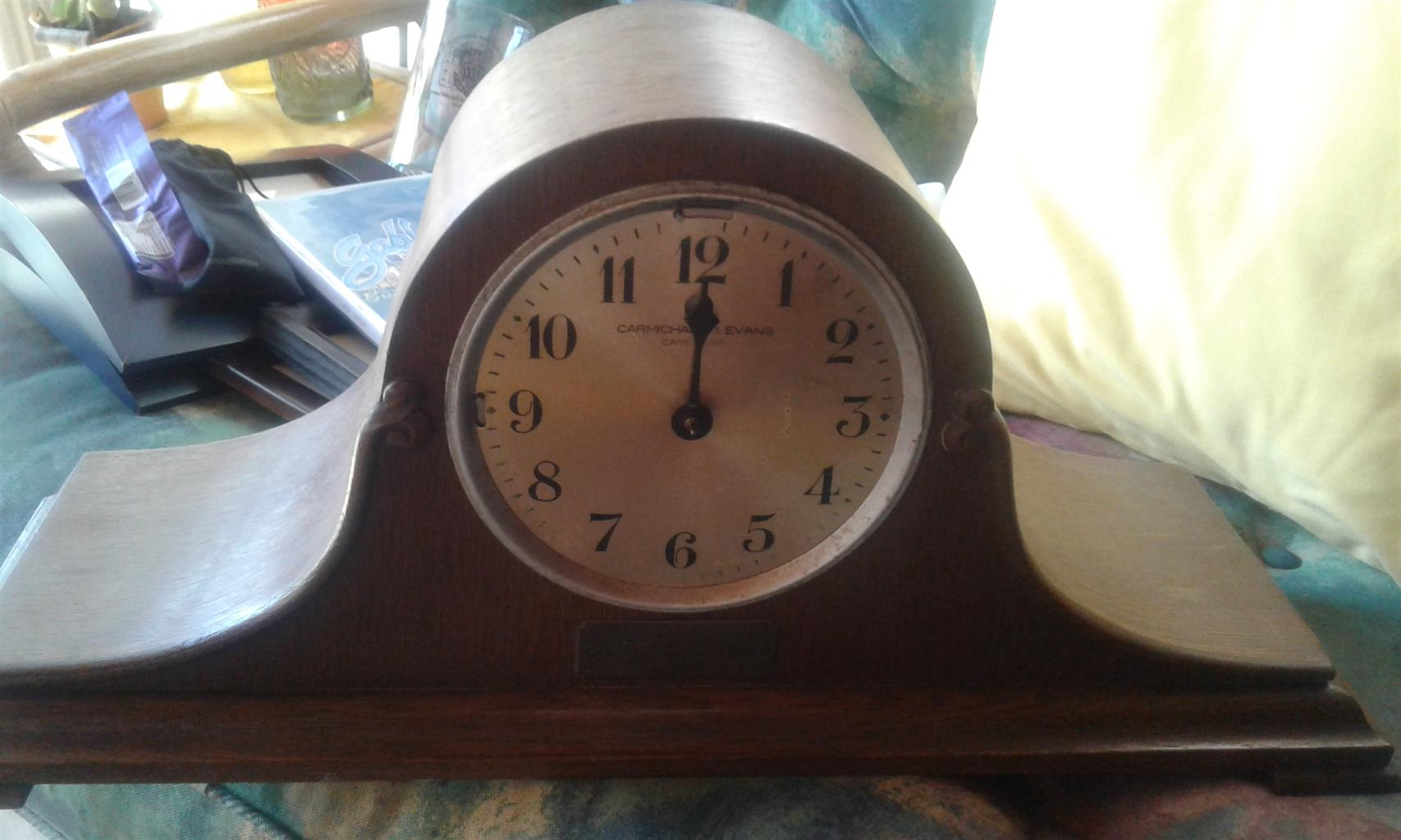 Antiques and Collectables - Clock, Lamp + Tins = Bargain - All for R550