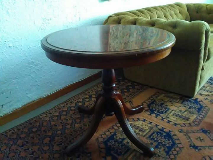 Granite Slab Round Side Table