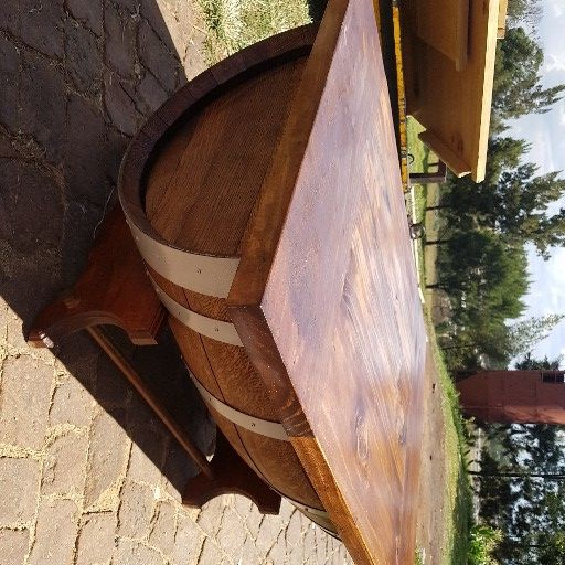 Wine barrel - Coffee table conversions