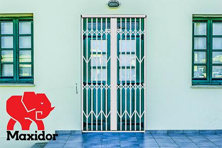 Maxidor rectratable barriers, swing gates, roller shutter, burglar bars