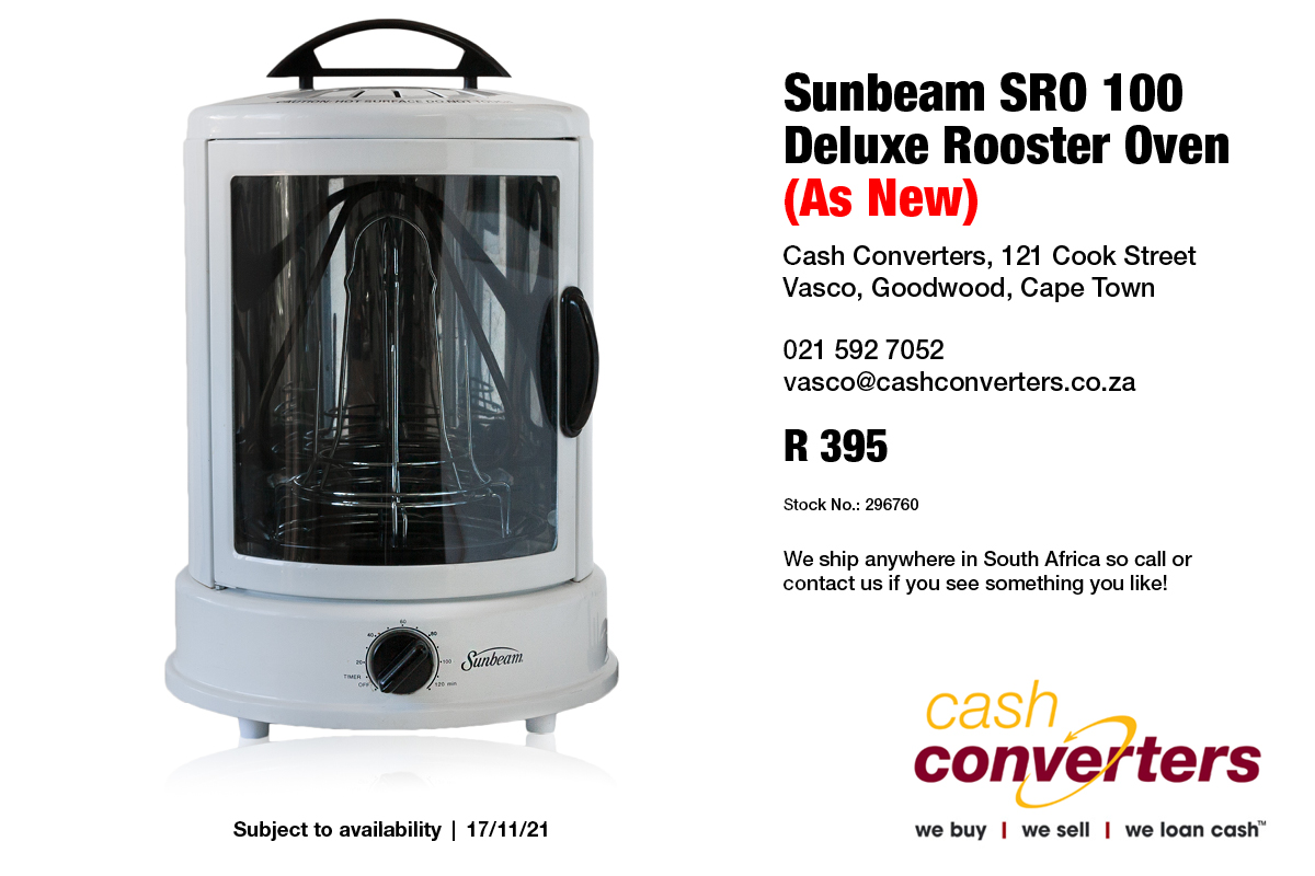 Sunbeam SRO 100 Deluxe Rooster Oven (As New)