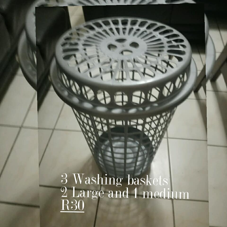 3 Washing baskets for sale