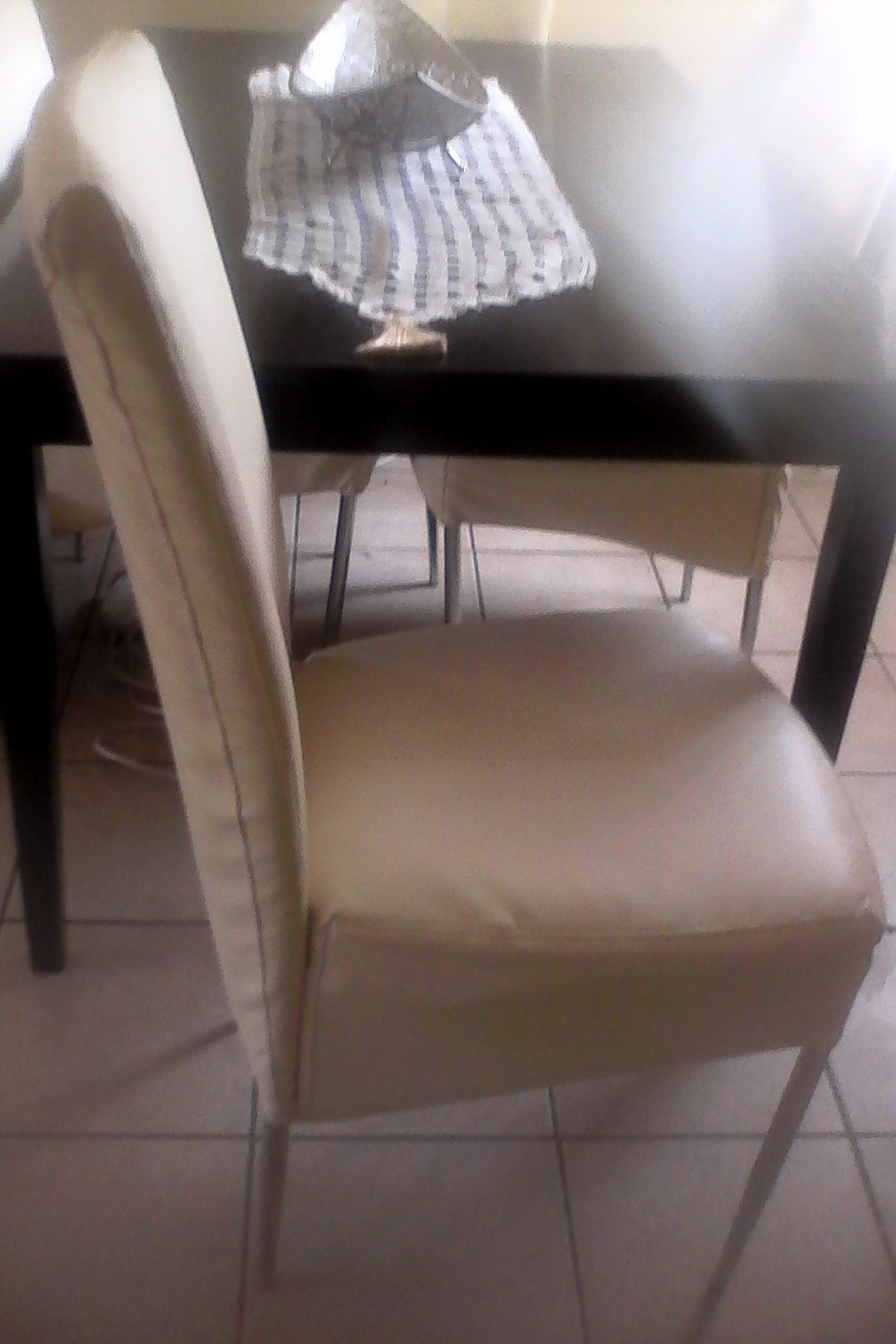 Corner lounge and dining chairs with table