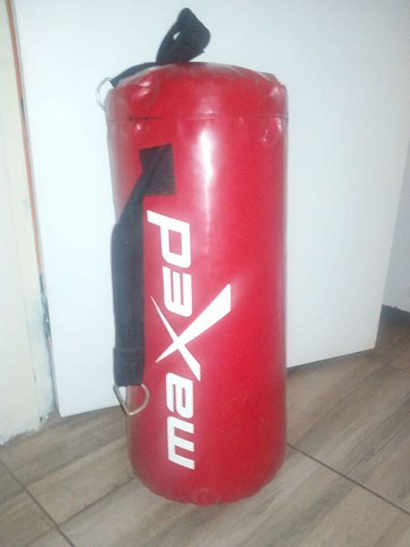 Red Maxed punching bag