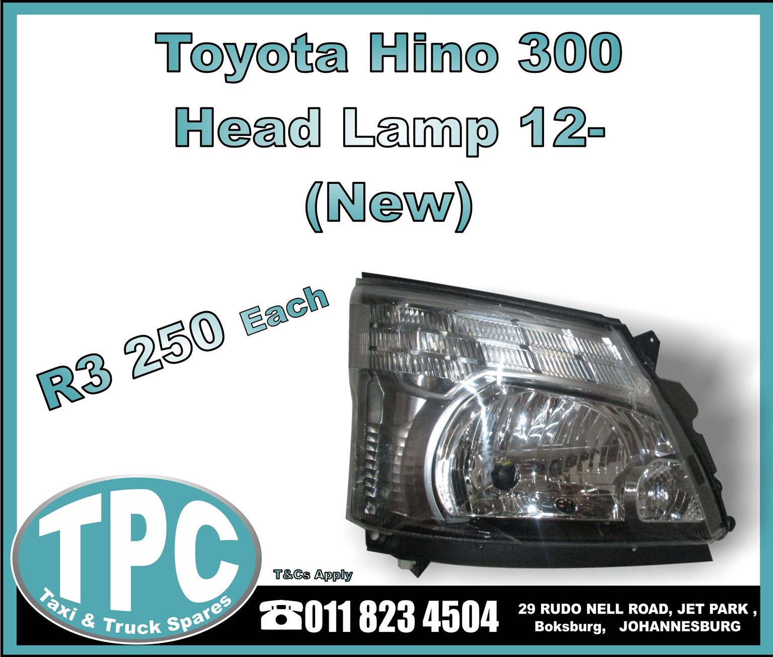 Toyota Hino 300 Head Lamp 12- - New Replacement Truck Parts - TPC.
