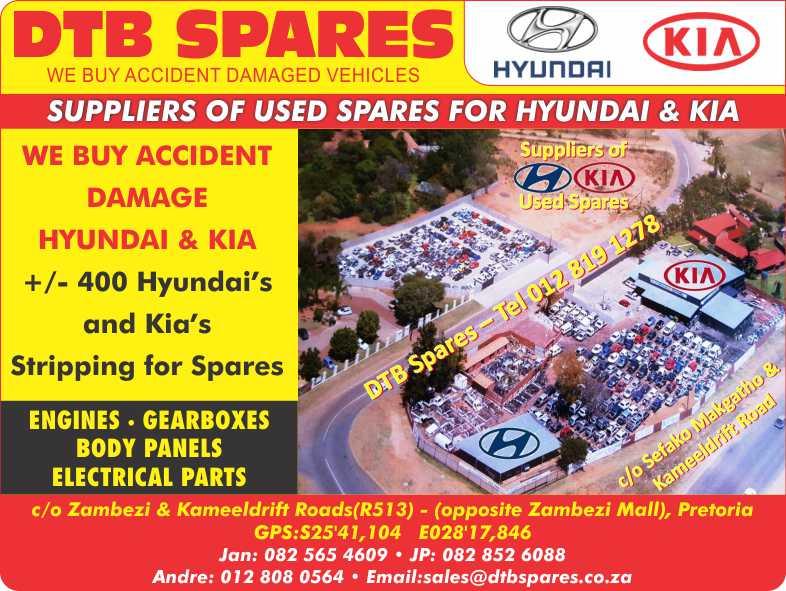 DTB SPARES (Hyundai &,Kia  used Parts)