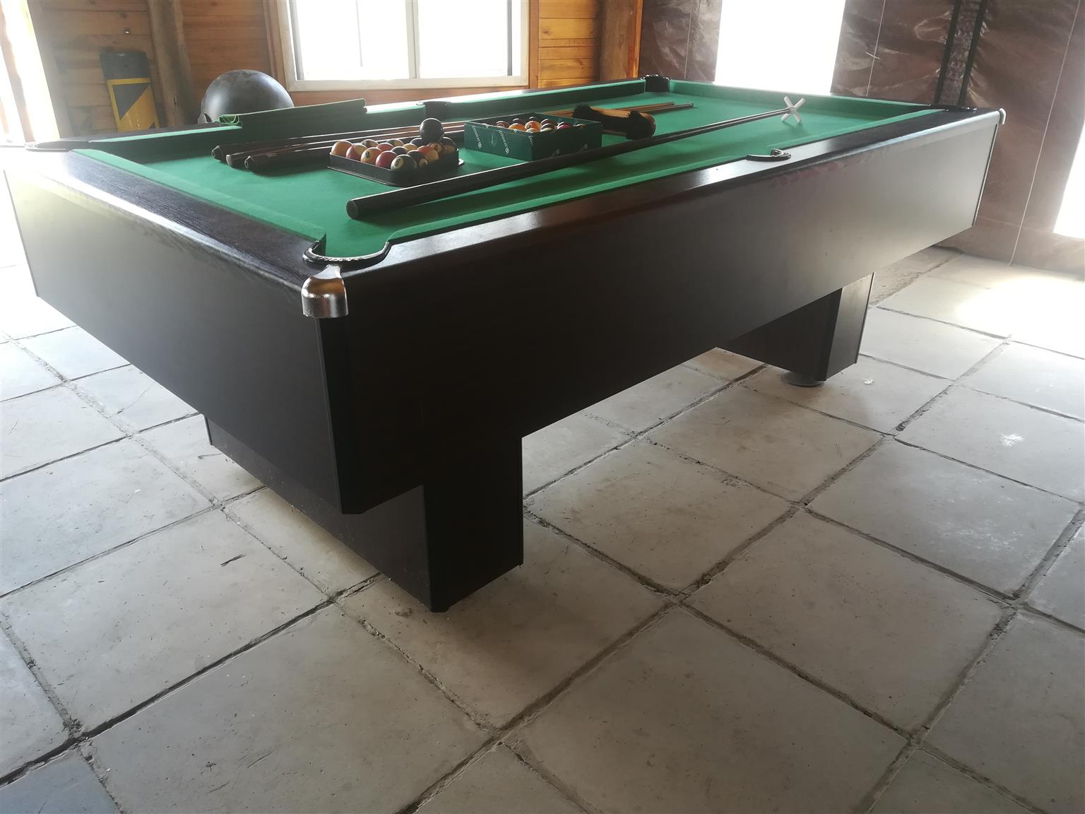 Mahogany Slate Bed Pool Table Junk Mail - Pool table without slate