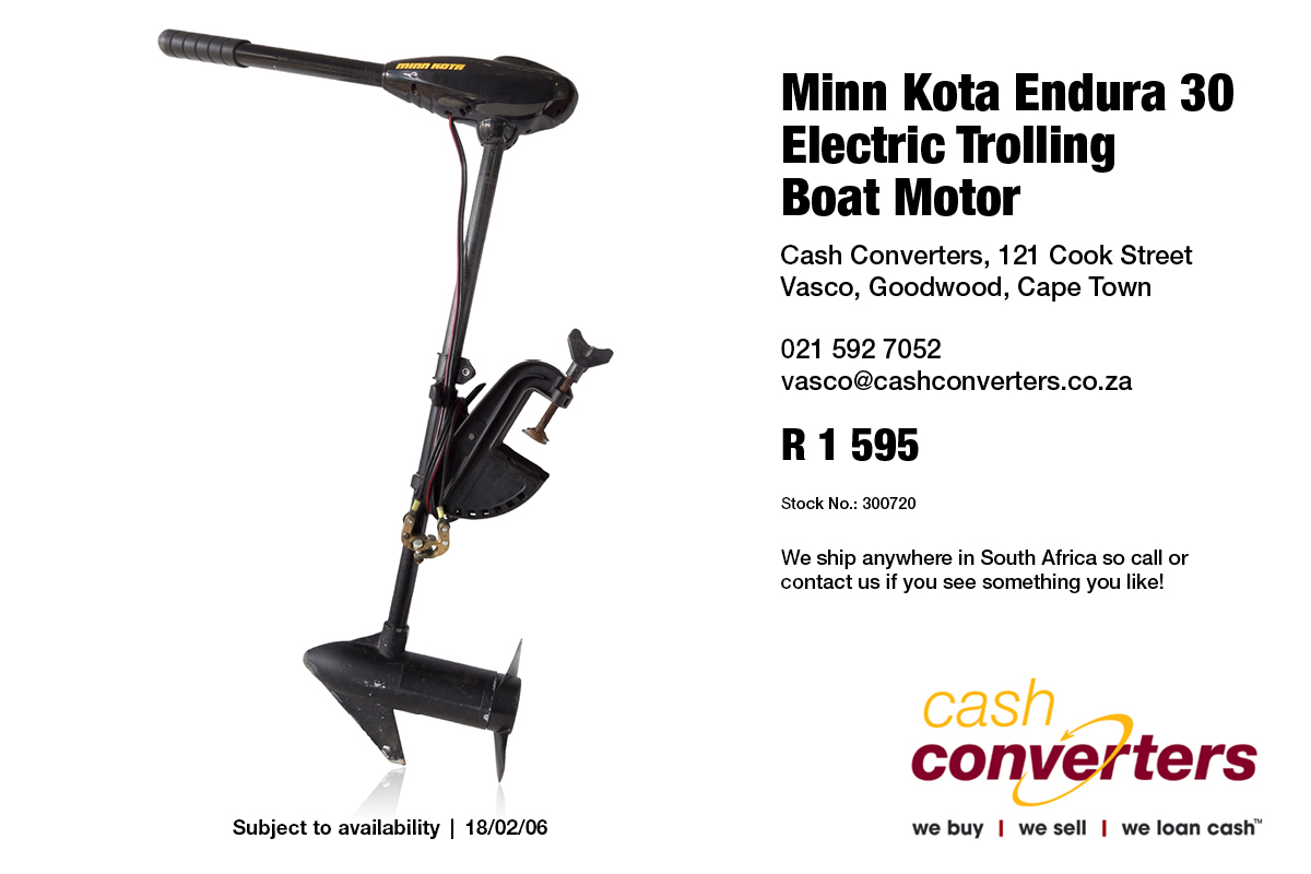 Boats and watercraft in cape town junk mail for Minn kota electric motor for sale