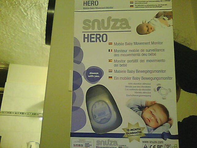 Snuza Hero Mobile Baby Movement Monitor Junk Mail