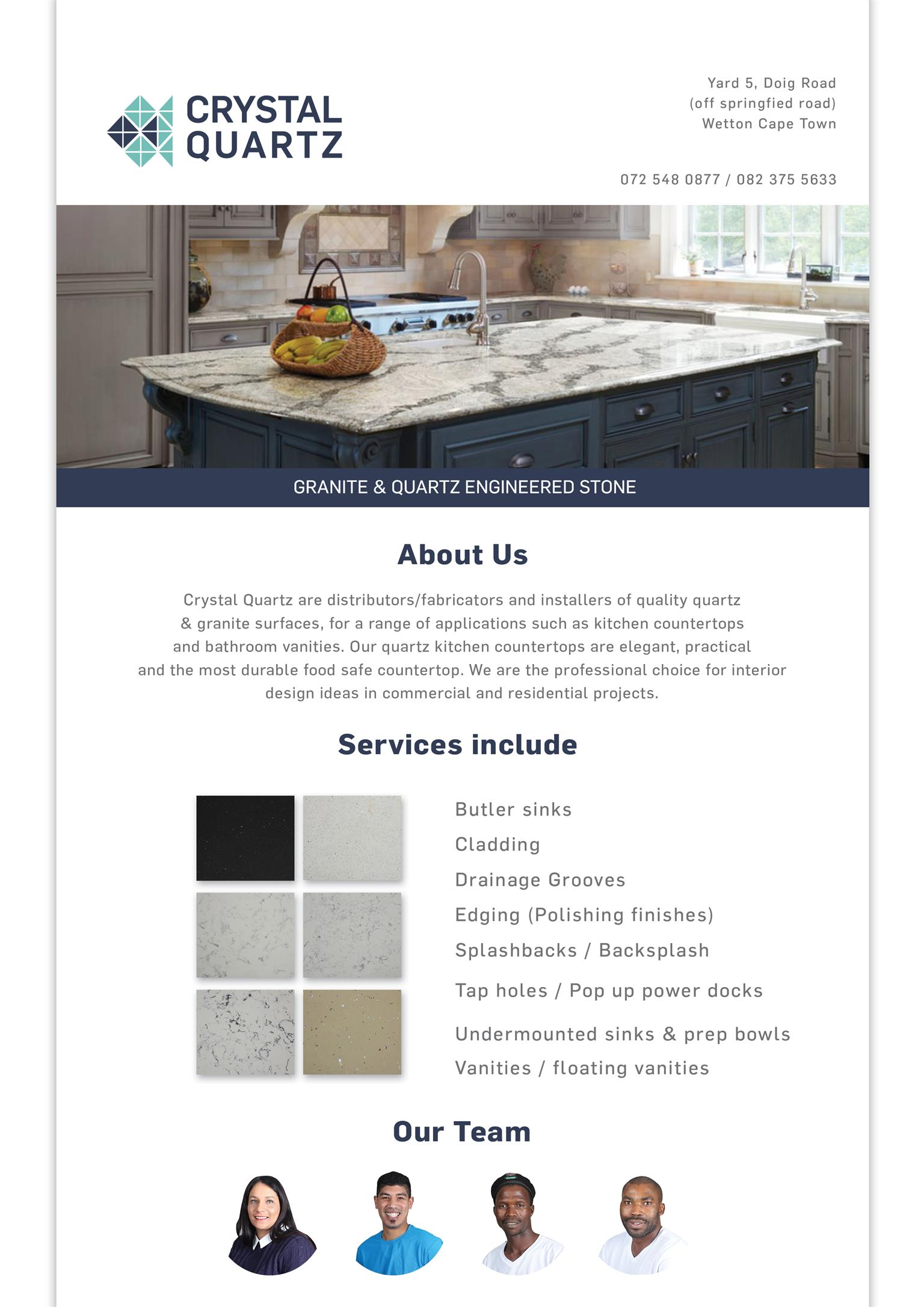 Granite & Quartz Countertops from R1320 per linear - includes installation...