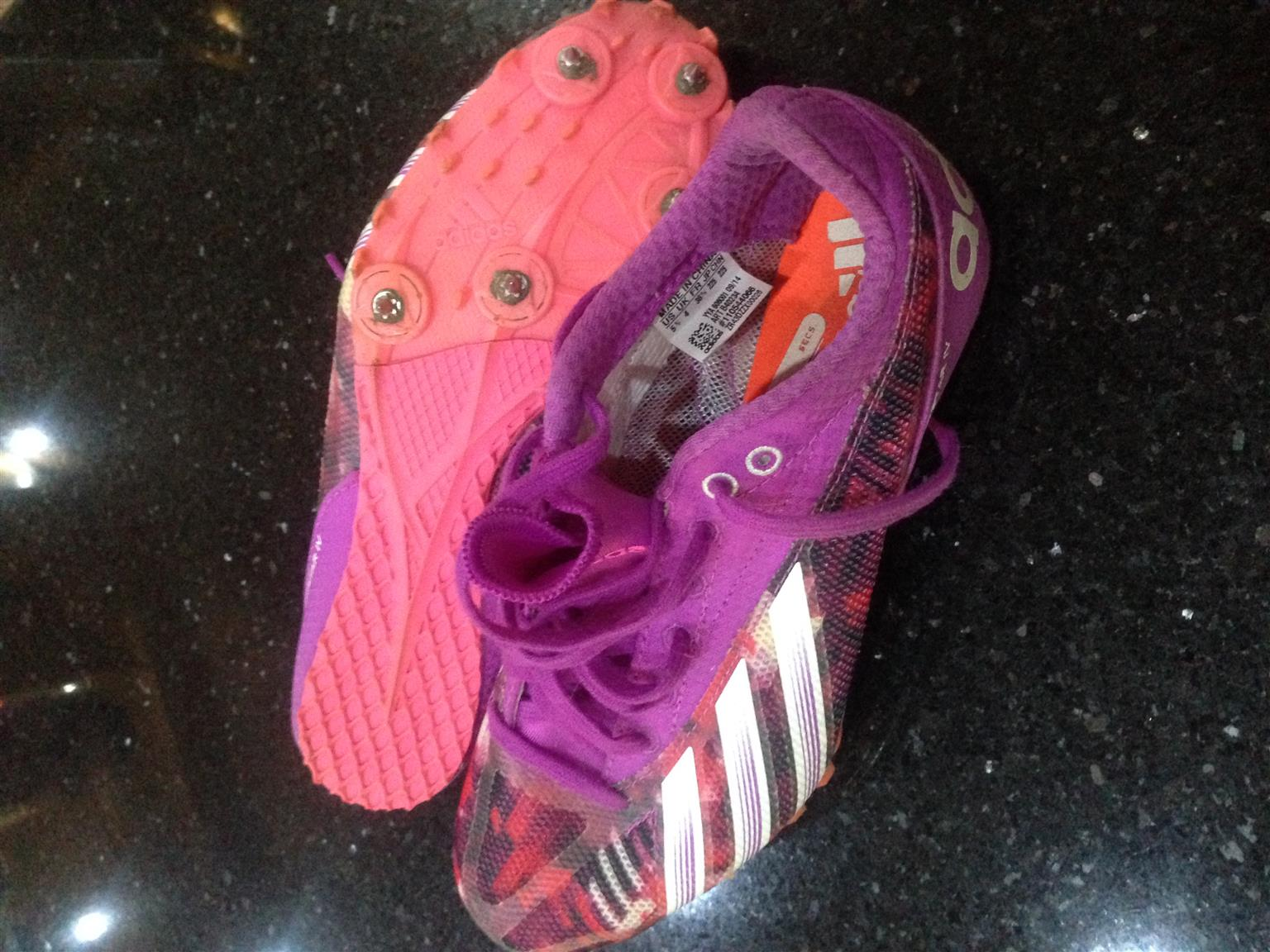 Adidas Athletic Spikes size 4 = R800 & Adidas Rugby Toks size 10 = R800
