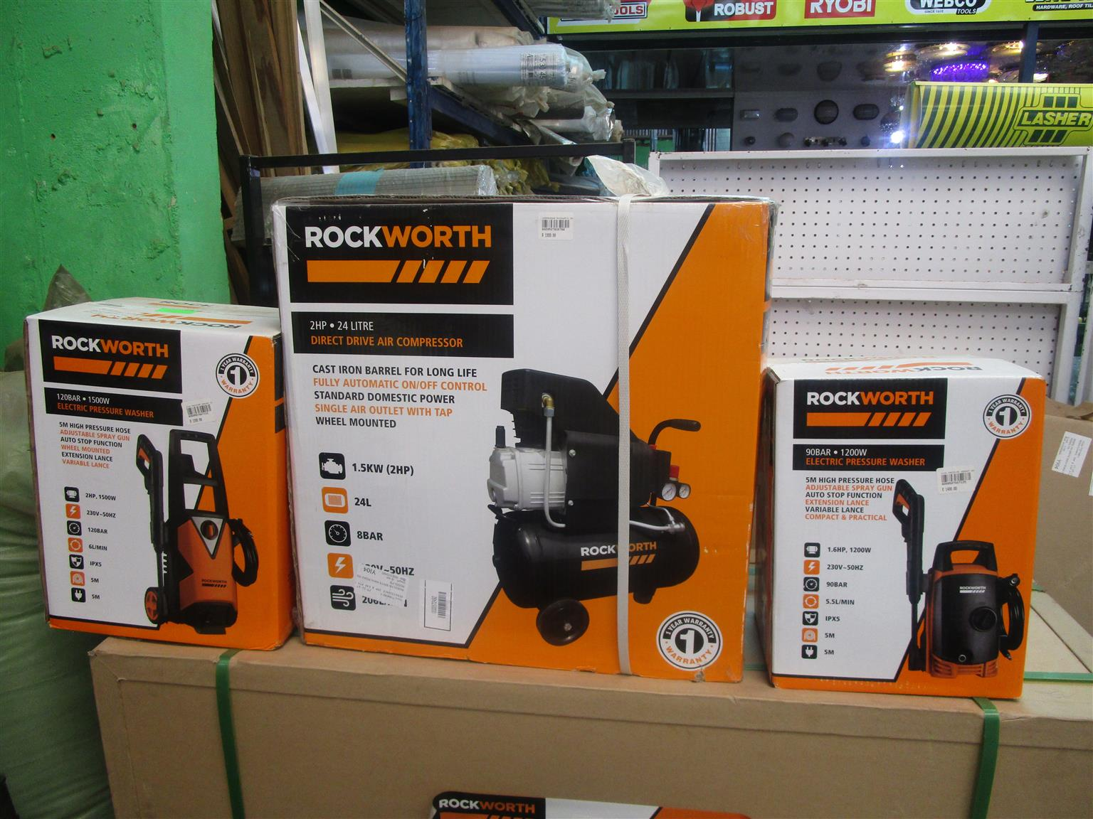 Rock Worth Electric Pressure washer & compressor