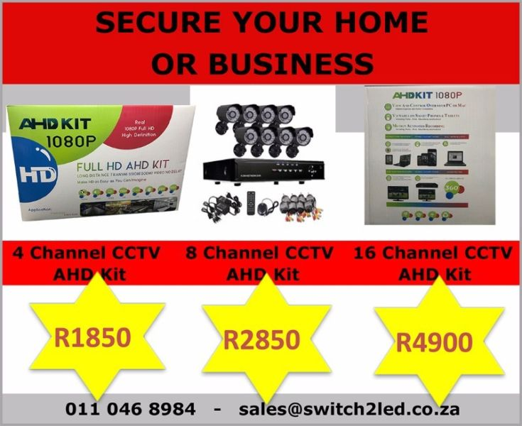 4 Channel CCTV Camera Kit